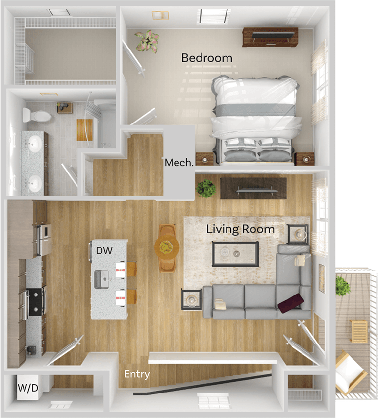 Apartment Flat Floor Plan Image