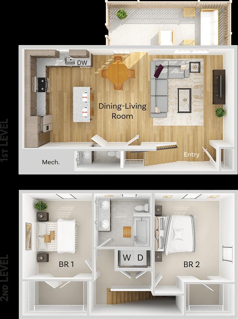 Townhome Floor Plan Image