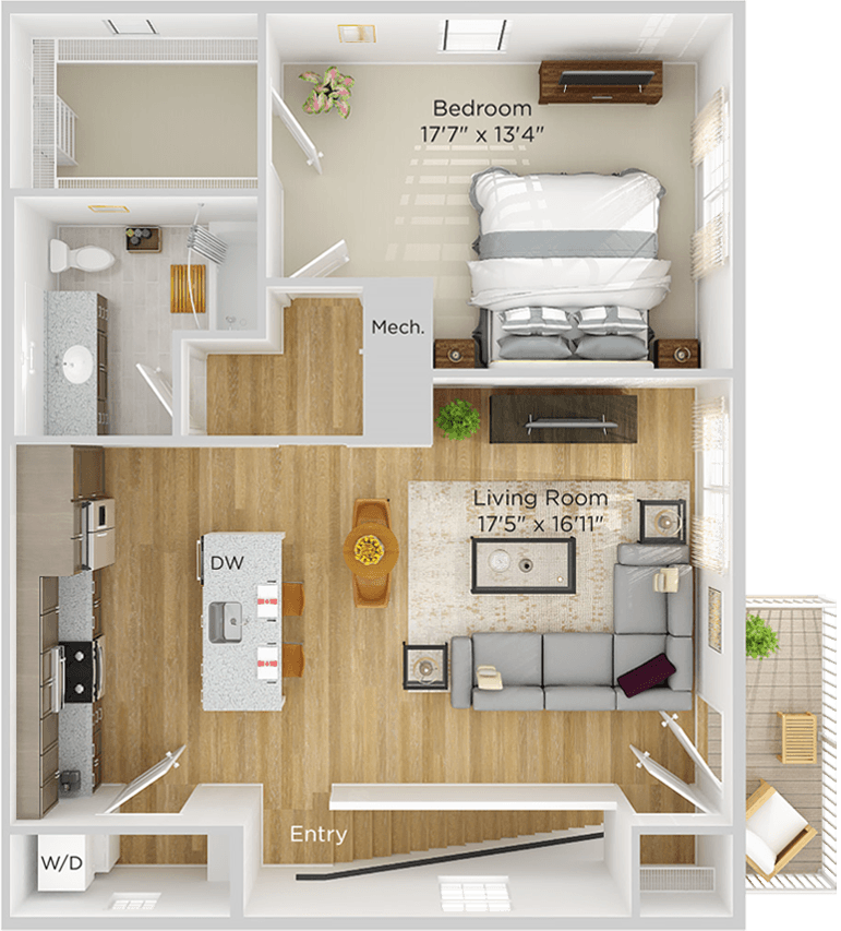 Apartment Flat Floor Plan Image