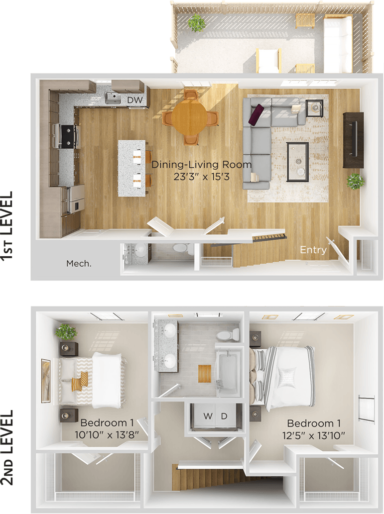 Townhome Floor Plan Image